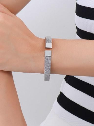 Z223 steel bracelet Titanium Steel Geometric Vintage Band Bangle