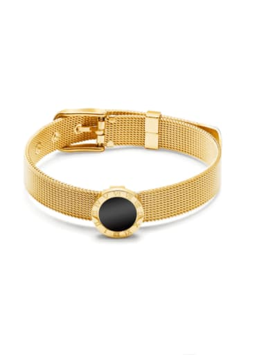 Titanium Steel Acrylic Geometric Vintage Bracelet