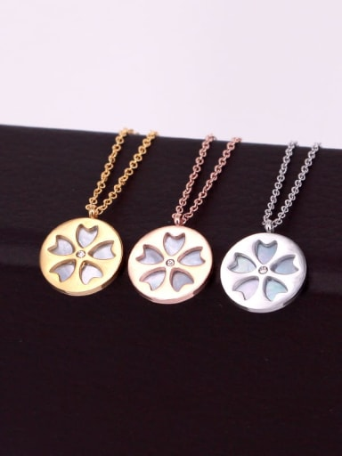 Titanium Shell Flower Dainty Necklace