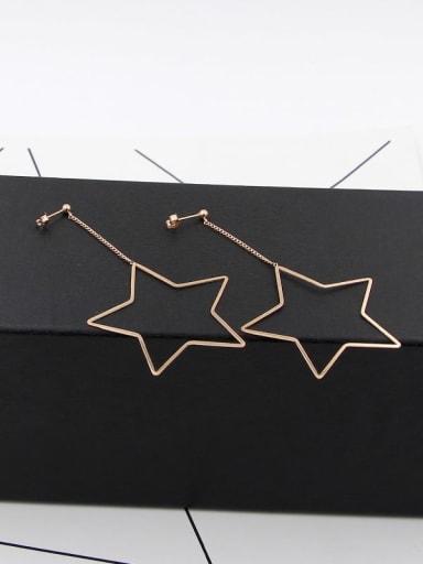 Titanium Star Statement Drop Earring