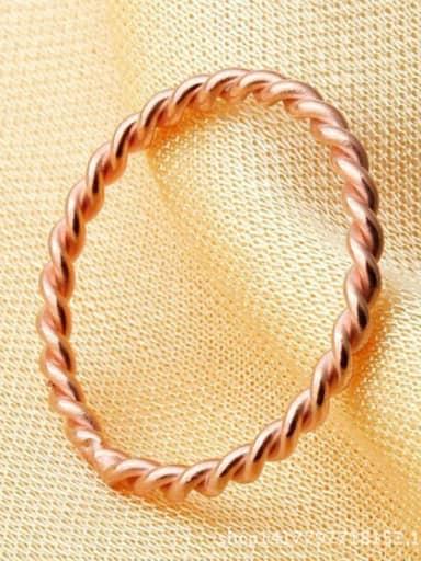 Titanium Twist  Irregular Minimalist  Ring