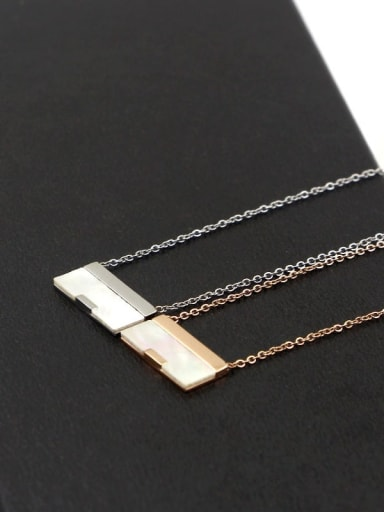 Titanium with Shell Crossbody bag shape Necklace
