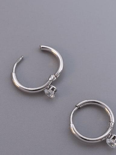 Titanium Steel Cubic Zirconia Geometric Minimalist Huggie Earring