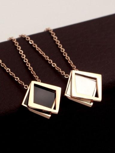 Titanium Shell Geometric Dainty Necklace