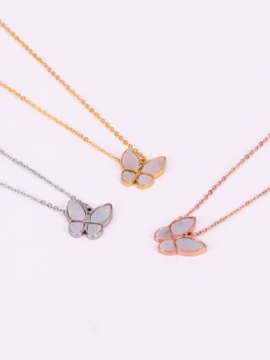 Titanium Shell Butterfly Trend Necklace