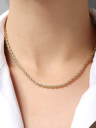 ?  gold +3mm +50cm Titanium 316L Stainless Steel Minimalist  Chain with e-coated waterproof