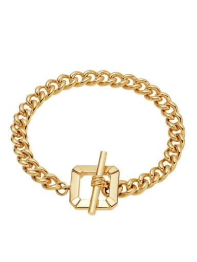 Stainless steel square buckle Cuban bracelet