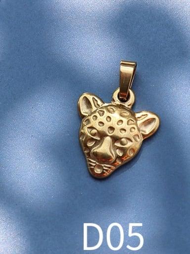 D05 Golden Tiger Titanium Steel Animal  Bird Cute Pendant