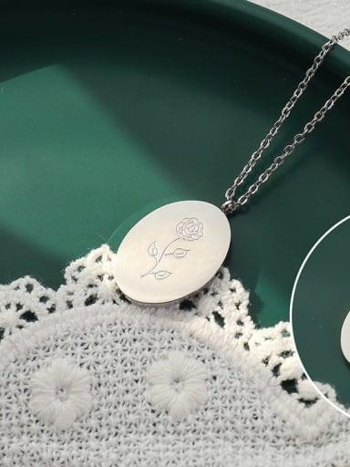 Titanium Steel Geometric Minimalist Necklace