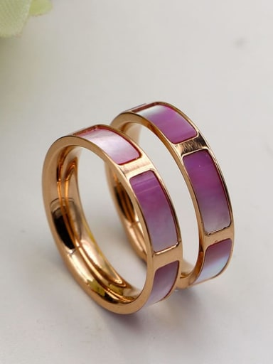 Titanium Shell Rectangle Minimalist Band Ring