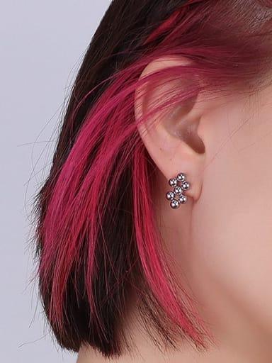 Titanium Steel Bead Vintage Geometric  Earring and Necklace Set