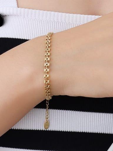 E288 gold bracelet 15+ 5cm Titanium Steel Vintage Irregular   Bracelet and Necklace Set