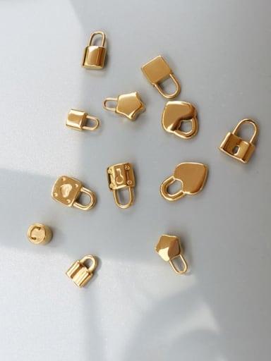 Titanium Steel Cute  Lock Heart Pendant