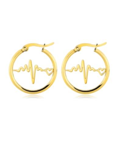 Stainless steel Letter Minimalist Hoop Earring