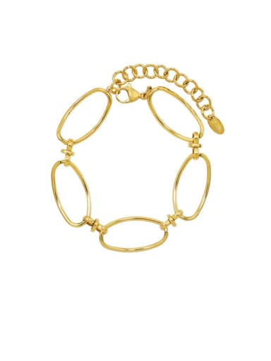 E202 gold bracelet 15+ 5cm Titanium 316L Stainless Steel  Minimalist Geometric Earring Braclete and Necklace Set with e-coated waterproof
