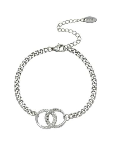 Titanium Steel  Minimalist Geometric Braclete and Necklace Set