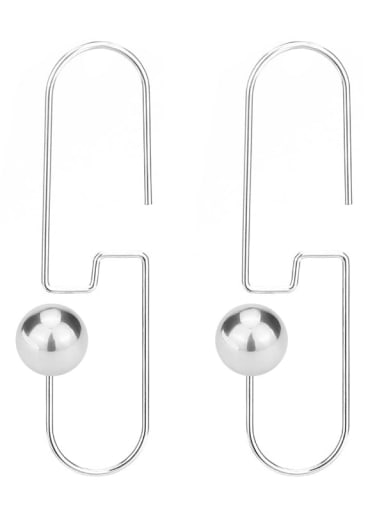 Steel Stainless steel Imitation Pearl Geometric Minimalist Hook Earring