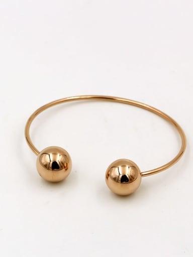 Titanium Ball Minimalist Cuff Bangle