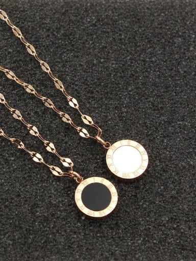 Titanium Shell Number Dainty Necklace