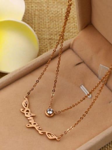 Titanium Letter Minimalist pendant Necklace
