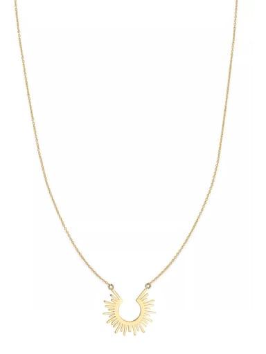 European and American style simple sun 18K titanium steel short necklace