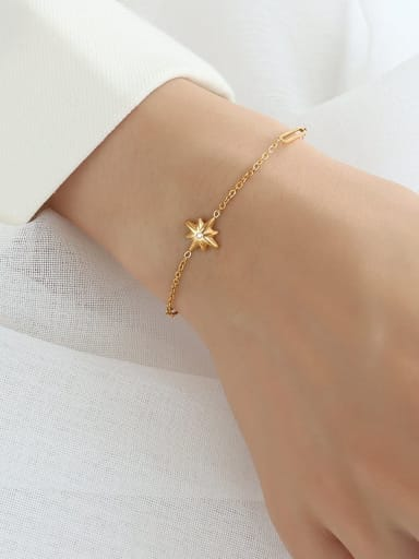 E260 gold bracelet 15+5cm Titanium Steel Minimalist Irregular  Earring And Braclete Set