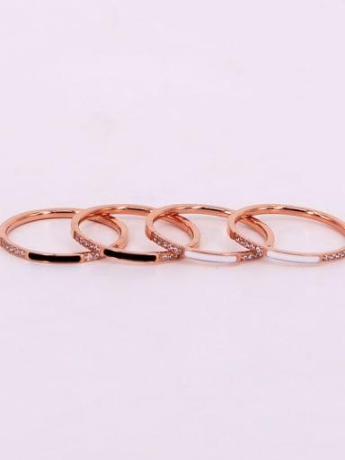 Titanium Enamel Geometric Minimalist rings