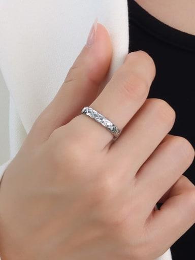 A232 steel Titanium Steel Geometric Minimalist Band Ring