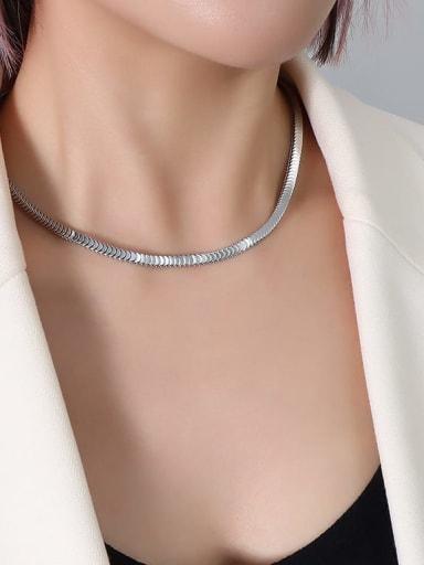 P303 Steel Necklace 40+ 5cm Titanium Steel  Minimalist Irregular Braclete and Necklace Set