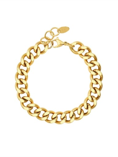 E201 gold bracelet 16 +2cm Titanium 316L Stainless Steel  Vintage Geometric Earring And Braclete Set with e-coated waterproof