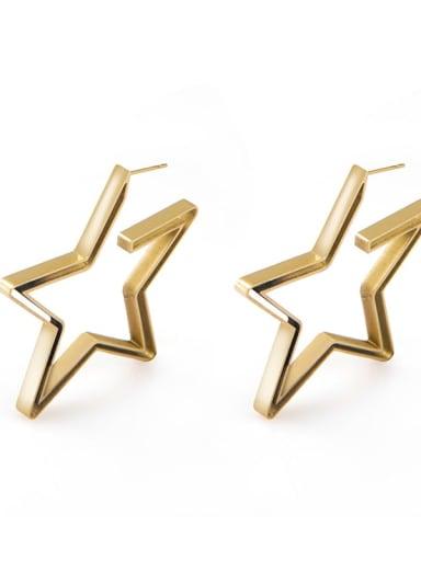 gold Net red personality irregular gap geometric Earrings