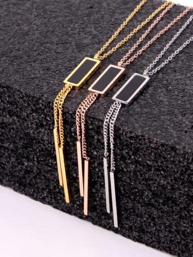 Titanium Tassel Dainty Tassel Necklace