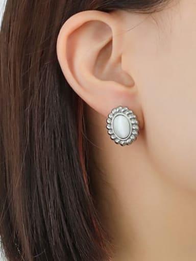 Titanium Steel Cats Eye Minimalist Geometric  Earring and Necklace Set