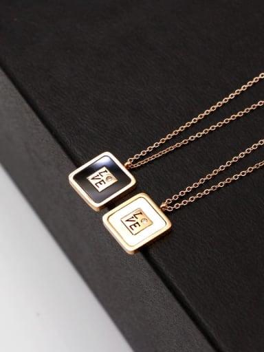 Titanium Shell Letter Trend Necklace