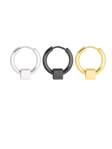 Titanium Steel Geometric Minimalist Single Earring(only one)