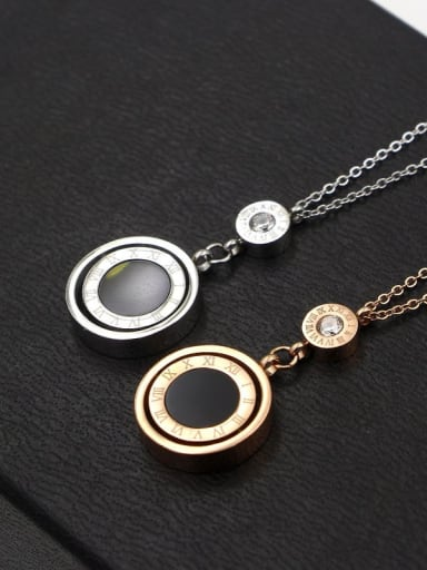 Titanium Shell Number Trend Necklace