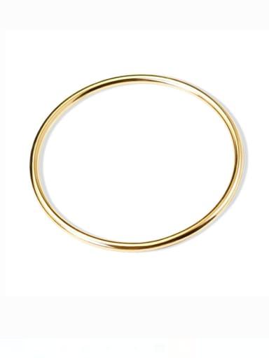 S Gold aperture Titanium Steel Geometric Minimalist Band Bangle