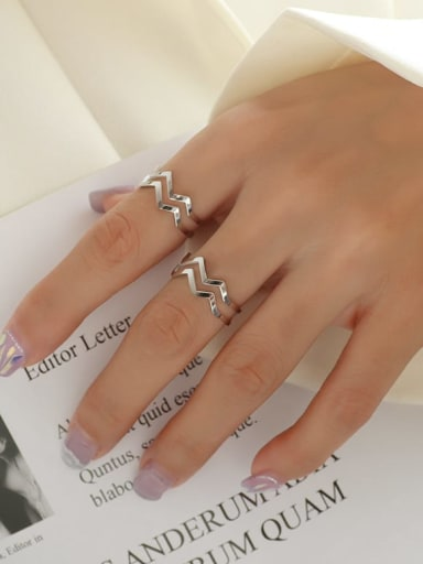 steel Titanium 316L Stainless Steel Geometric Minimalist Stackable Ring with e-coated waterproof