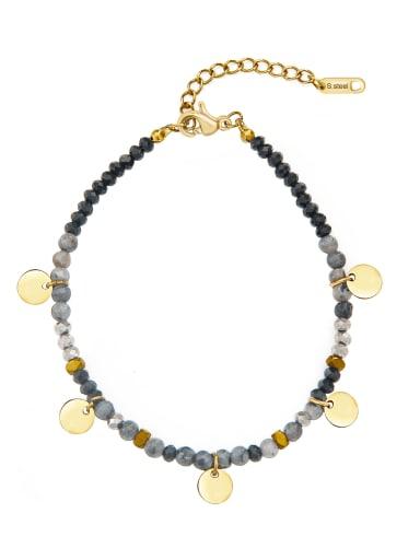 Black Stainless steel Round Bohemia Link Bracelet