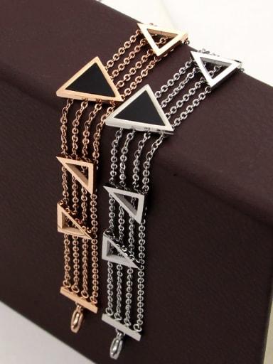 Titanium Triangle Dainty Bracelet
