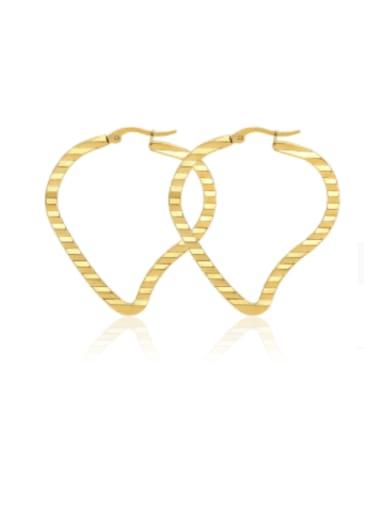 Titanium Steel Heart Minimalist Huggie Earring