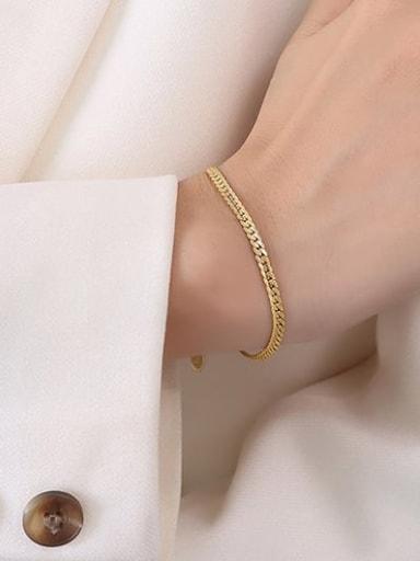Titanium Steel Vintage Irregular Bracelet and Necklace Set