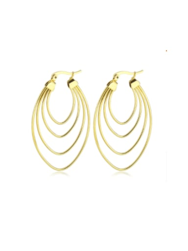 Titanium Steel Geometric Minimalist Huggie Earring