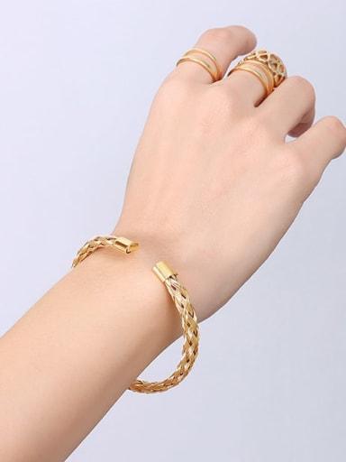Z224 Gold Bracelet Titanium Steel Geometric Minimalist Band Bangle