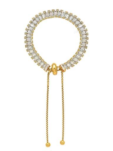 E285 gold bracelet Titanium Steel Cubic Zirconia Vintage Tassel  Braclete and Necklace Set