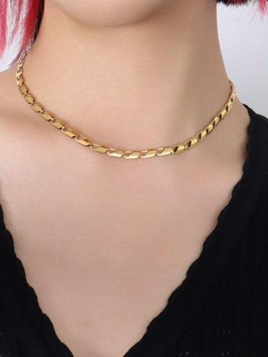 P162 gold necklace Titanium Steel Minimalist Irregular Braclete and Necklace Set