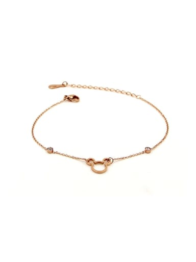 Titanium mickey Rosary Cute Anklet