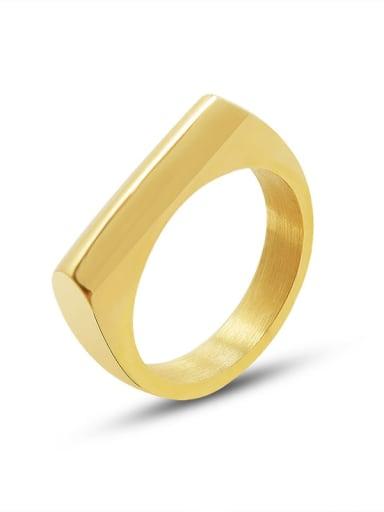 A280 gold ring Titanium Steel Geometric Minimalist Band Ring