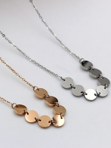 Titanium smooth Geometric Minimalist Necklace