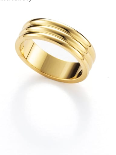 gold Vintage black oil dripping stainless steel ring